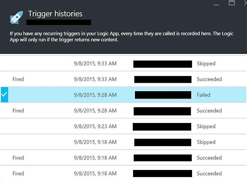Logic App Trigger History with Failed Trigger
