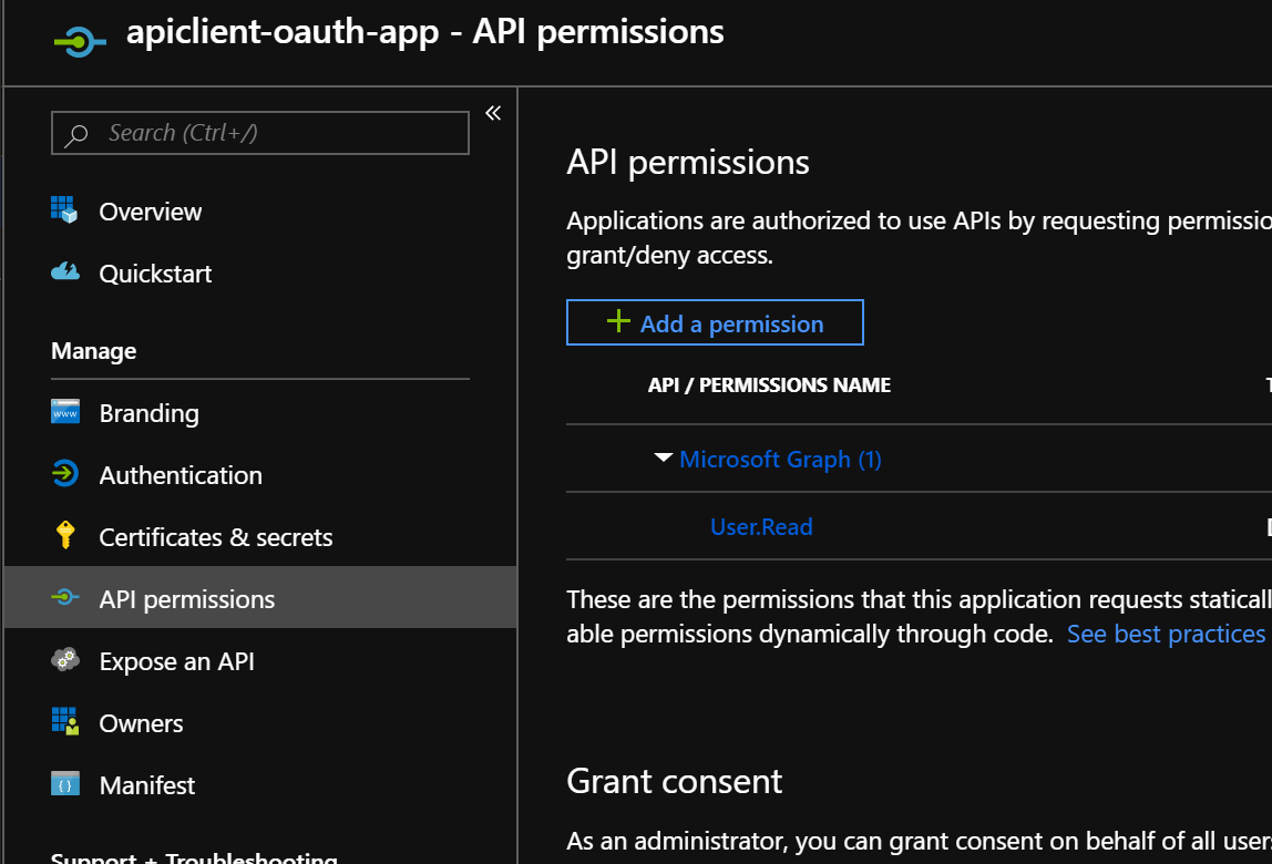 OAuth 2 0 Authorisation with the Client Credentials Flow on