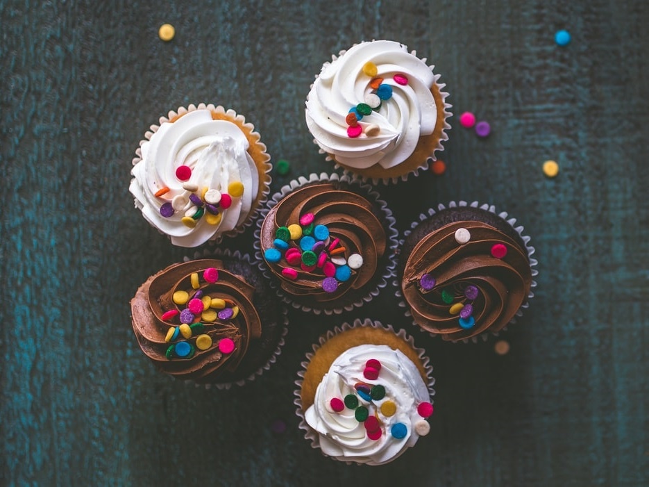 Delicious looking cupcakes. Often we want to have our cake and eat it too.