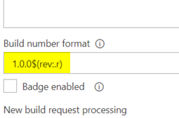 How to automate Project Build numbers in VSTS